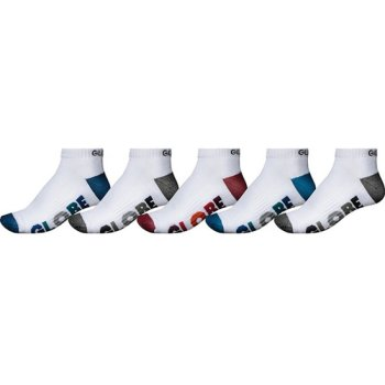 Globe Multi Stripe white 5er Pack Knöchel Socken