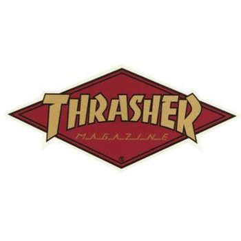 Thrasher Diamond Logo bordeaux Sticker