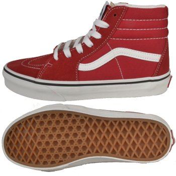 Vans SK8-HI racing red/true white Kids Schuhe