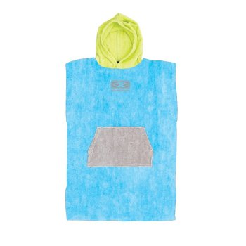 Ocean + Earth blue Toddlers Poncho
