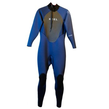 Xcel Axis 3/2 blue Chest Zip Wetsuit