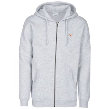 Cleptomanicx Ligull Heavy light heather gray Hooded Zipper