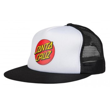 Santa Cruz Classic Dot white/black Trucker Kids Cap