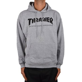 Thrasher Hometown heather grey Hooded
