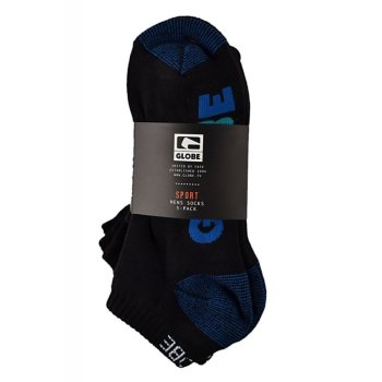 Globe Multi Stripe black 5er Pack Knöchel Socken