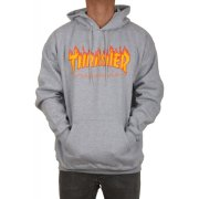 Thrasher Flame heather grey Hooded