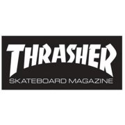 Thrasher Skate Mag Super Sticker black 9.25