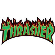 Thrasher Flame Large rasta Sticker