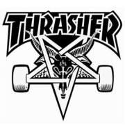 Thrasher Skategoat Die Cut white Sticker