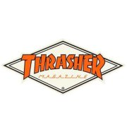 Thrasher Diamond Logo white/orange Sticker