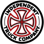 Independent Cross 6 red/white Sticker