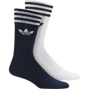 Adidas Solid Crew navy/white 2er Pack Socken