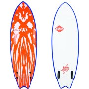 Softech Mason Twin neon red/white Soft Surfboard