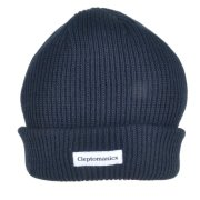 Cleptomanicxs Shortie 2 dark navy Beanie