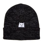 Rip N Dip Lord Nermal Rib black reflective yarn Beanie