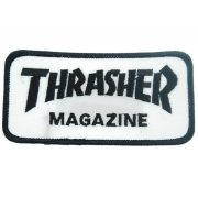 Thrasher Logo white/black Patch