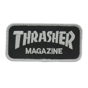 Thrasher Logo silver/black Patch