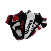 Globe Destroyer red 5er Pack Knöchel Socken