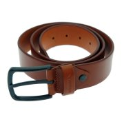 Reell All Black Buckle hazel Leather Belt